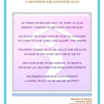 A Devotion for Daunting Days