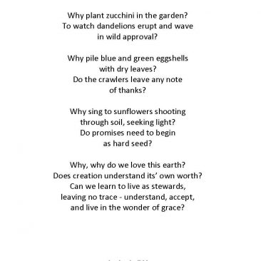EARTH DAY REVERENCE